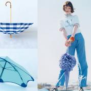色とりどりの傘で、輝く雨粒を受け止めて