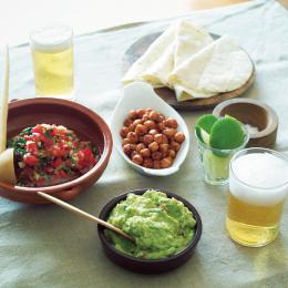 メキシコ風サルサ、ワカモーレとビール - 金曜日のアペロ No.03