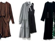 モードな非対称のドレス