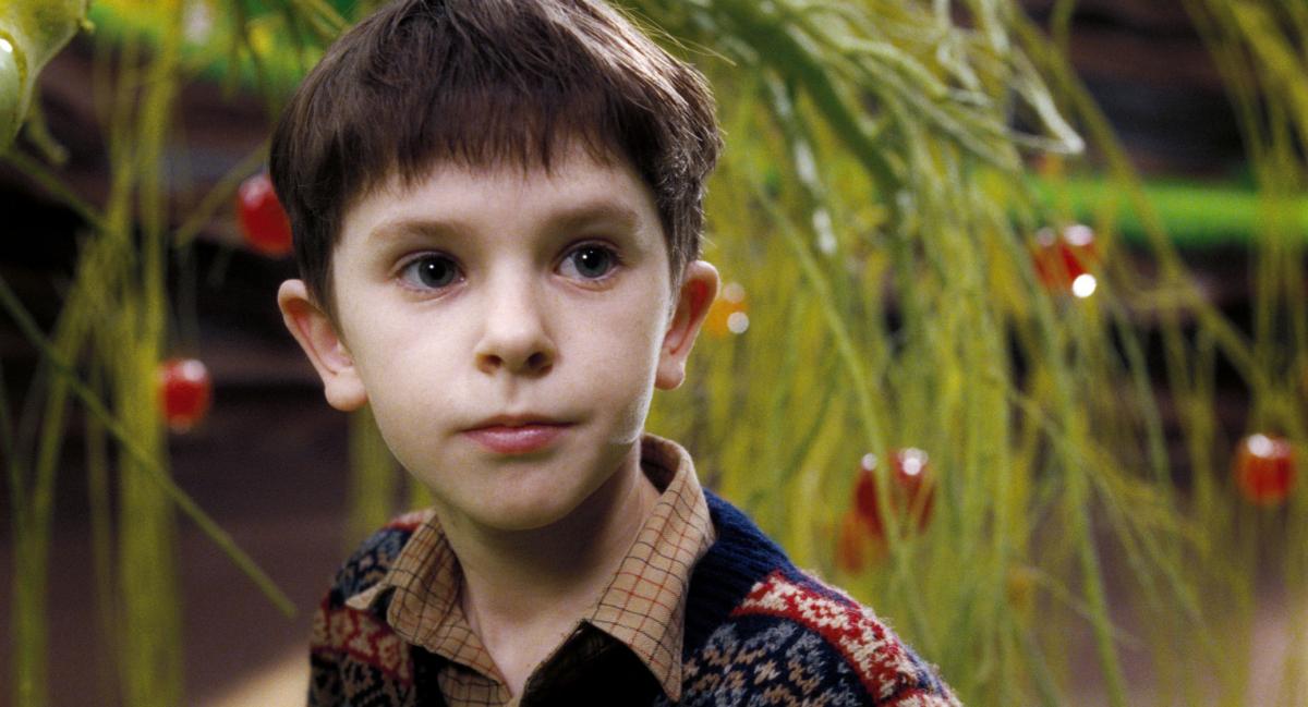 『チャーリーとチョコレート工場』(2005)で主人公の少年チャーリーを演じたフレディ・ハイモア。『ネバーランド』(2004)でも共演していたジョニー・デップから推薦されて役に決まったのだとか。その後も名子役として数々の作品に出演。