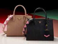 リゾートコレクションの幾何学模様を取り入れた、プラダの新作ハンドバッグが登場