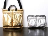 プティローブノアー×ポーター、ゴールド&シルバーに輝くアイテムを限定販売