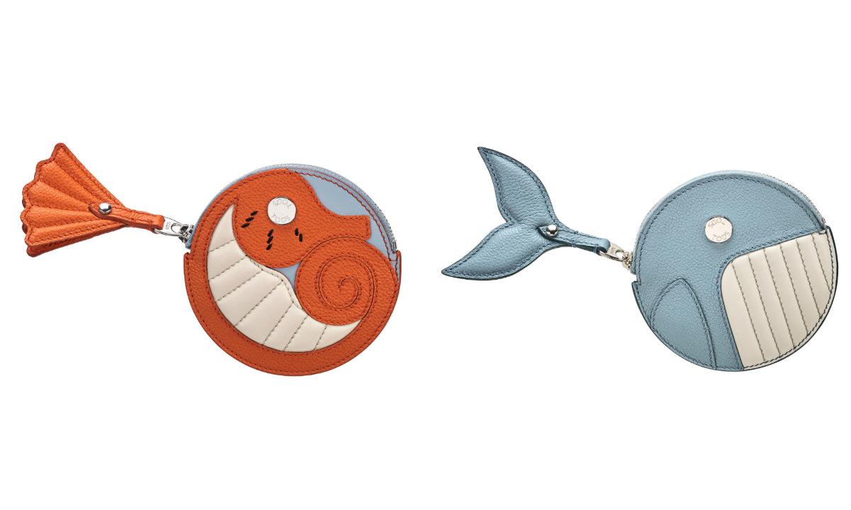 コインケース〈H11×W11.5×D1.5㎝〉(クジラ)¥49,000・(タツノオトシゴ)¥44,000・(ペンギン)¥35,000・(アオガラ)¥53,000・(フラミンゴ)¥49,000(すべてイベント先行発売)/トッズ・ジャパン