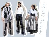 【白シャツ】オフィスからカジュアルまで! 万能アイテムでつくるモノトーンスタイル