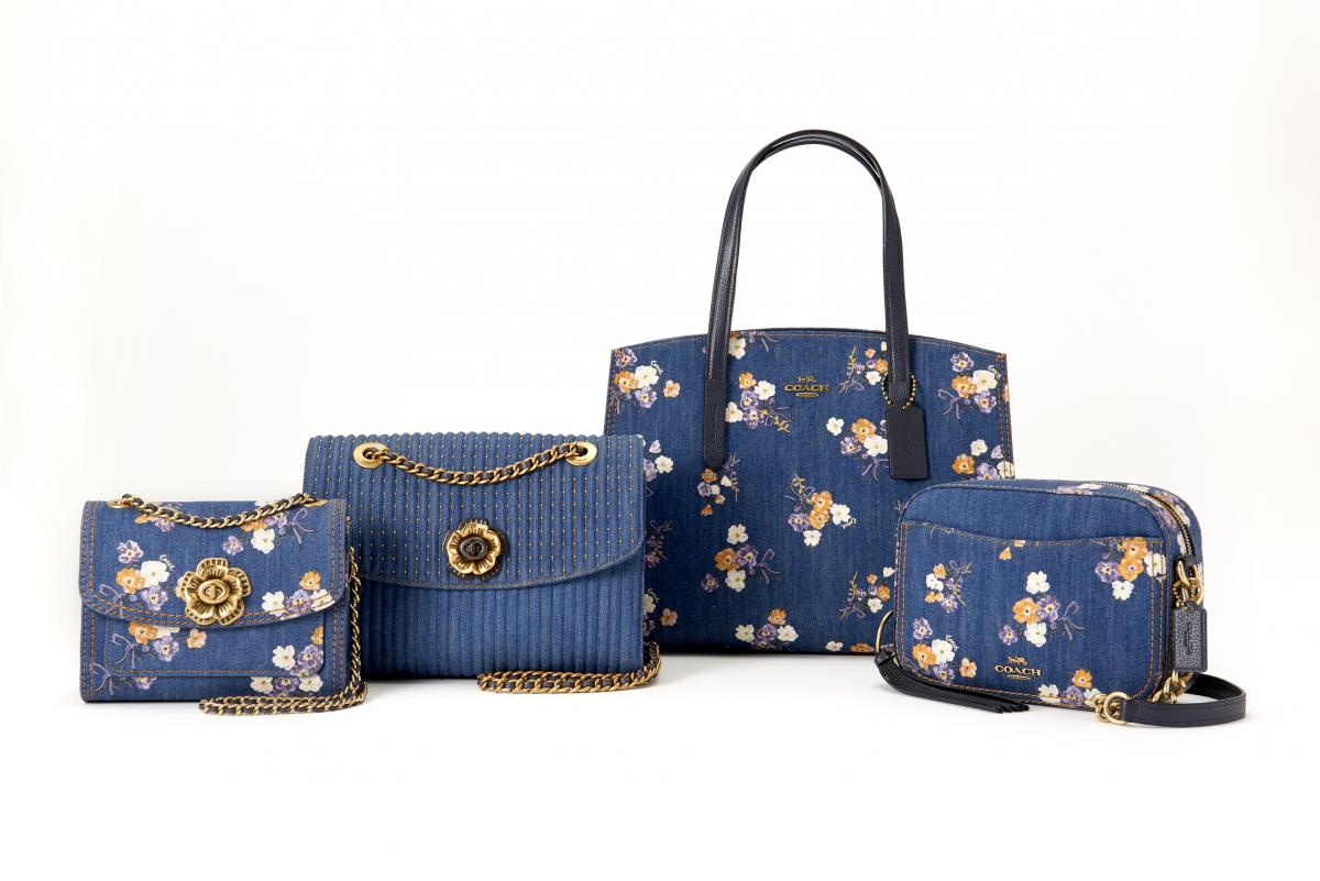 バッグ「デニム ミックス フローラル プリント Parker 18」〈H13×W18×D8㎝〉¥50,000(日本限定)、©Coach
