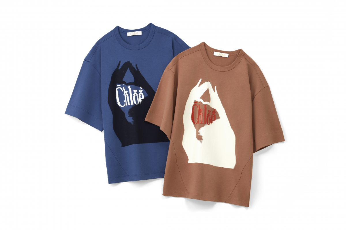 Tシャツ各¥56,000(GINZA SIXポップアップブティック限定)/クロエ カスタマーリレーションズ(クロエ)