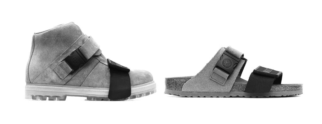 """(左から)ブーツ""""ロッテルハイカー"""" ¥00,000・サンダル""""ロッテルダム"""" ¥00,000/ビルケンシュトック"""