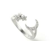 【Ponte Vecchio】月と星のピュアな輝きをダイヤモンドの煌めきで表現