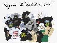 アニエスベーがアーティストとのコラボTシャツ&バッグを発売、記念レセプションも