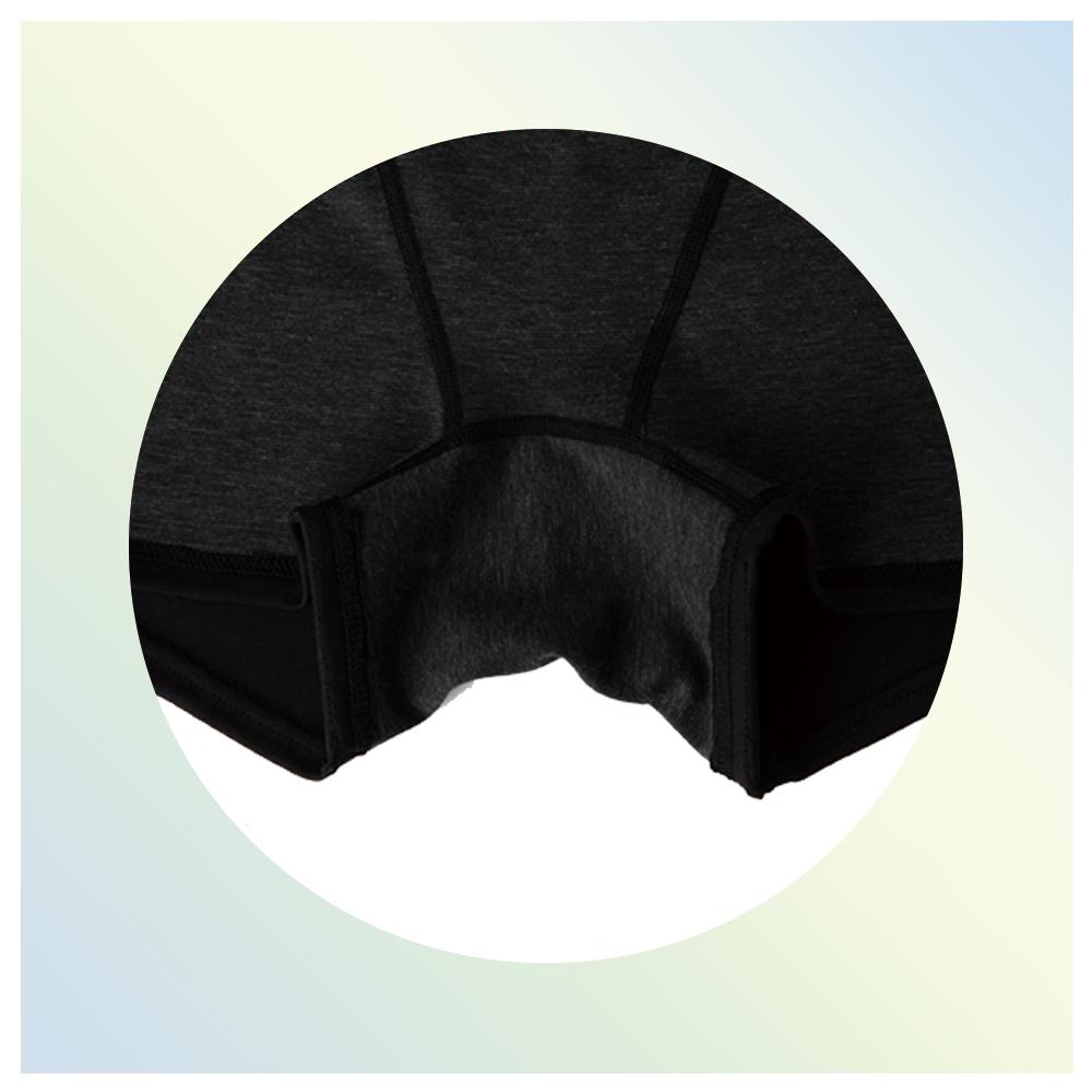 17.Bé-A  ベア シグネチャー ショーツ ブラック S-M(クロッチ部分)