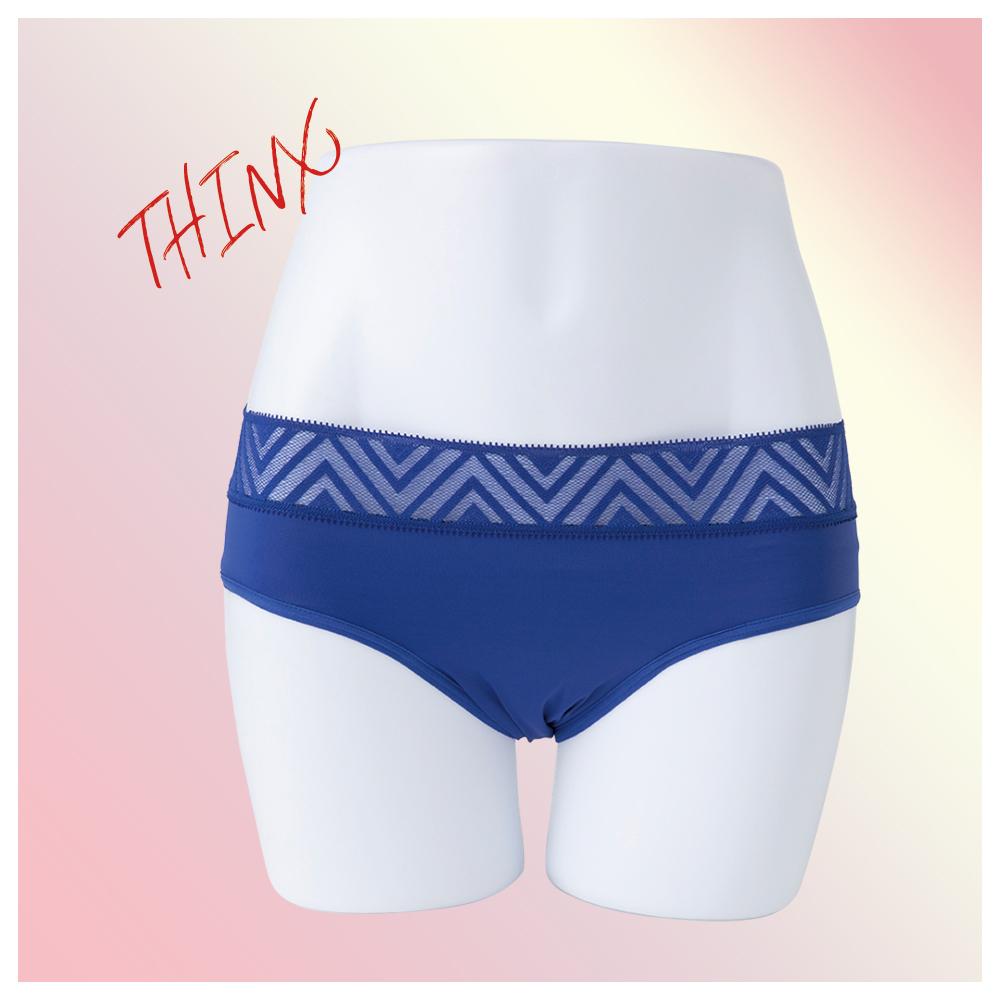 1.THINX THINX ショーツ Hiphugger New Lace ブルー XS(前)