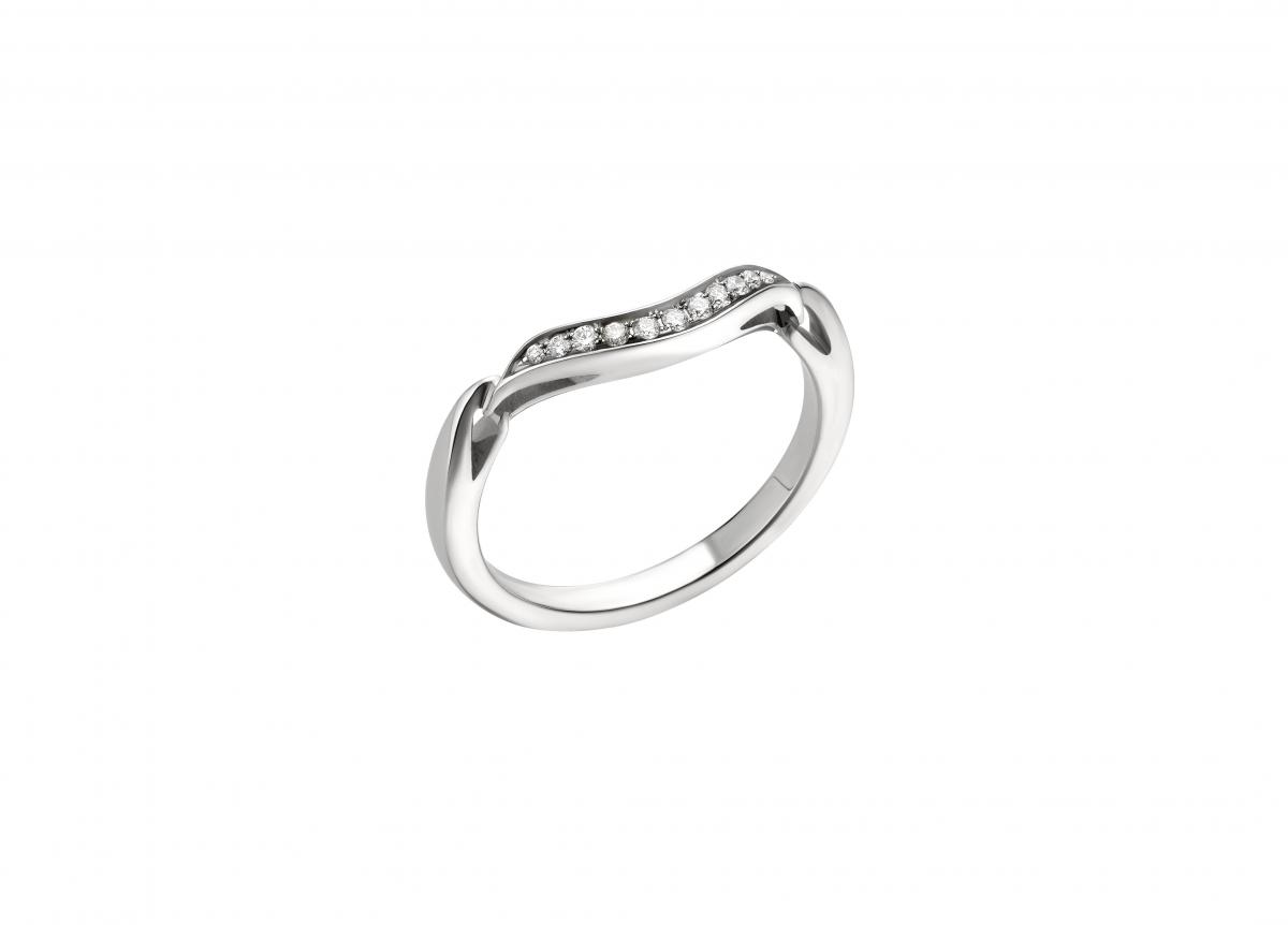 「インコントロ ダモーレ」ハーフエタニティリング(Pt×ダイヤモンド)¥240,000