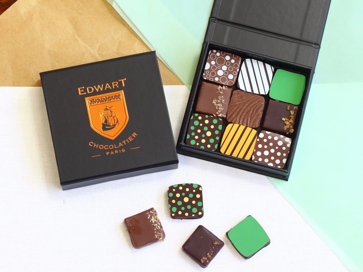 若手ショコラティエ発、パリで人気のボンボンショコラ【エドワート】