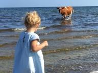"""スウェーデンのエレノア王女、海で""""珍客""""に遭遇!?"""