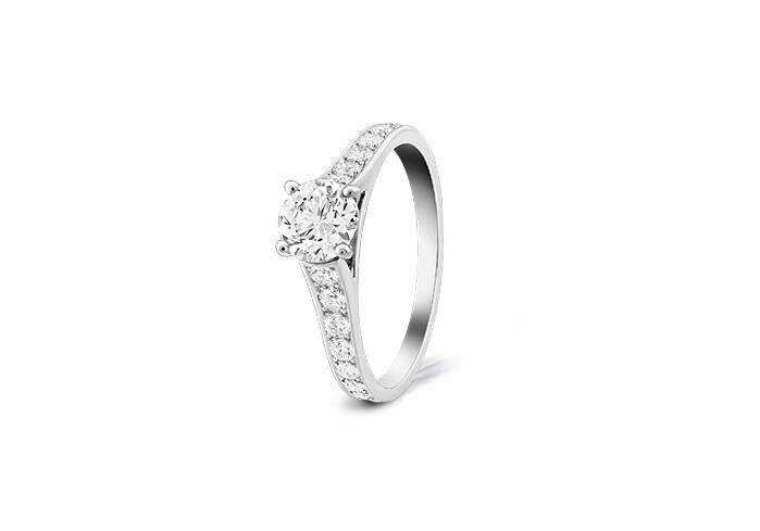 ロマンス ソリティア リング(プラチナ、ダイヤモンド)¥000,000〜