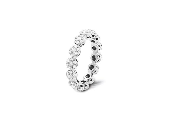 フルーレット リング(プラチナ、ダイヤモンド) ¥000,000〜  ※全て税抜き価格