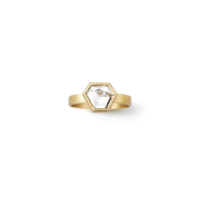 Hexagon Ring〈18KYG、ダイヤモンド〉¥1,320,000