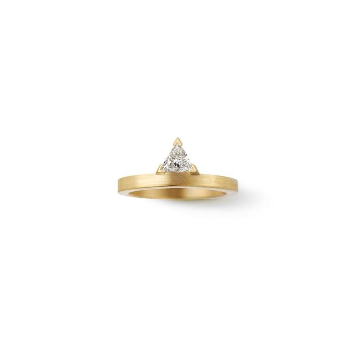 Trillion Ring〈18KYG、ダイヤモンド〉¥528,000