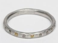 グラデーションカラーのダイヤモンドの繊細な輝きを堪能