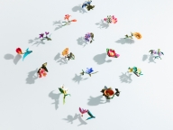 約100点の花飾りがお目見え! 「アトリエ染花」  がスパイラルガーデンで作品展を開催