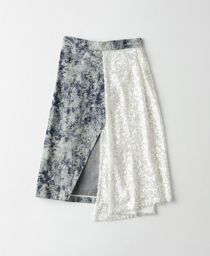 クチュール感覚のハイブリッドスカート【WALK OF SHAME】