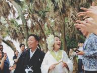 伝統ある青島神社でモダンな人前式を