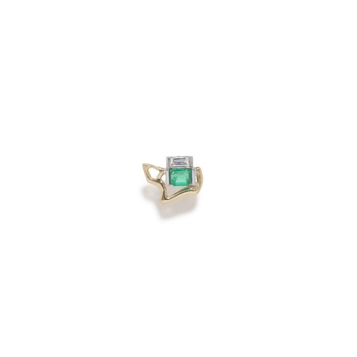 Kintsugi Infinity イヤリング〈YG、ダイヤモンド、エメラルド〉¥173,800