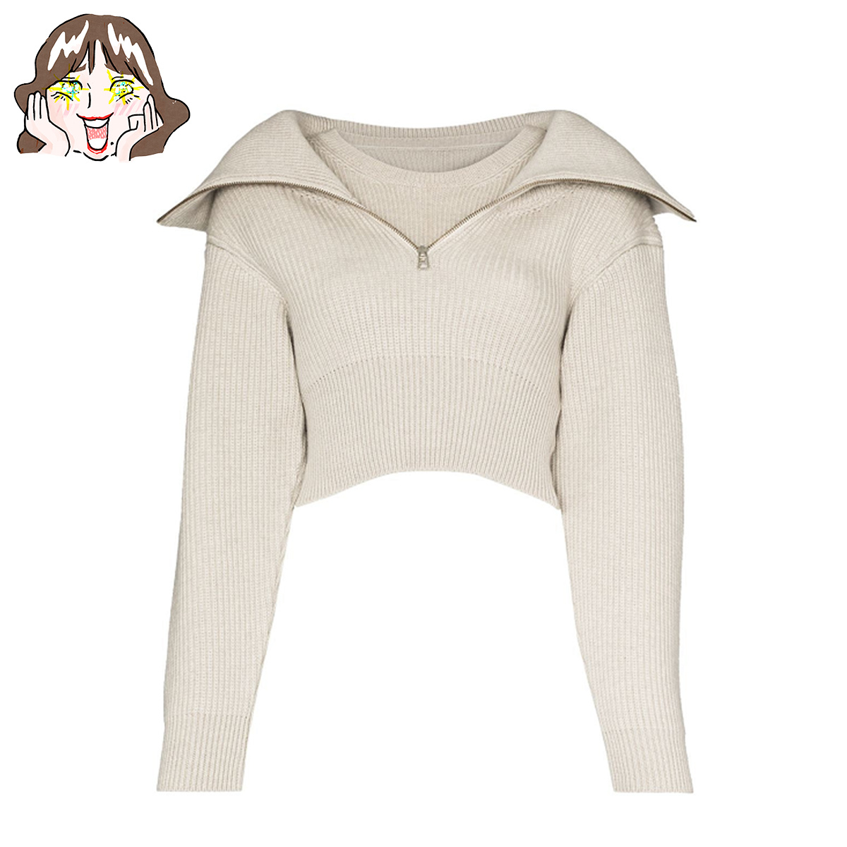 ジャックムスのジップアップセーター by エディターT