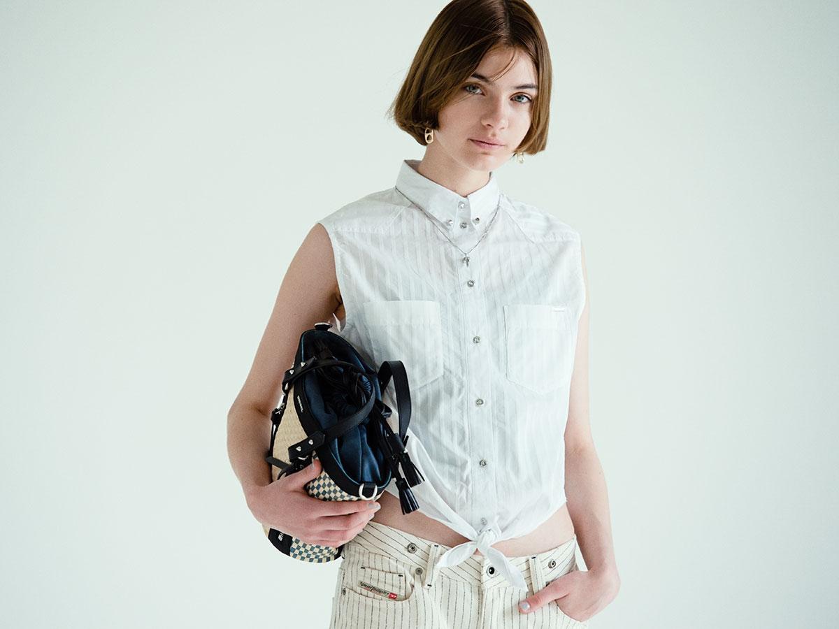 【DIESEL】夏の街に映える、アクティブなノースリーブシャツ