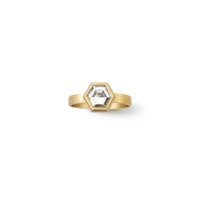 Hexagon Ring〈18KYG、ダイヤモンド〉¥1,650,000