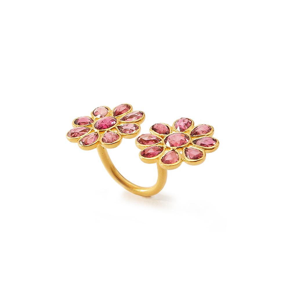 ピンクトルマリンの花が咲く、神秘のインドジュエリー【UPALA】