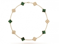 ヴァン クリーフ&アーペル銀座本店に多彩な「アルハンブラ コレクション」が集結