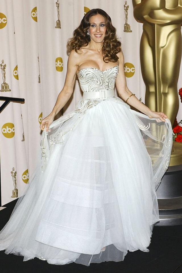 第81回アカデミー賞受賞式で、クリスチャン・ディオールのドレスを着用したサラ・ジェシカ・パーカー。