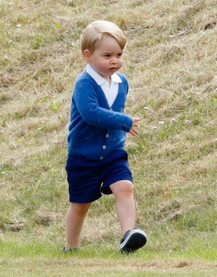 2歳になる前のジョージ王子。Photo:Getty Images
