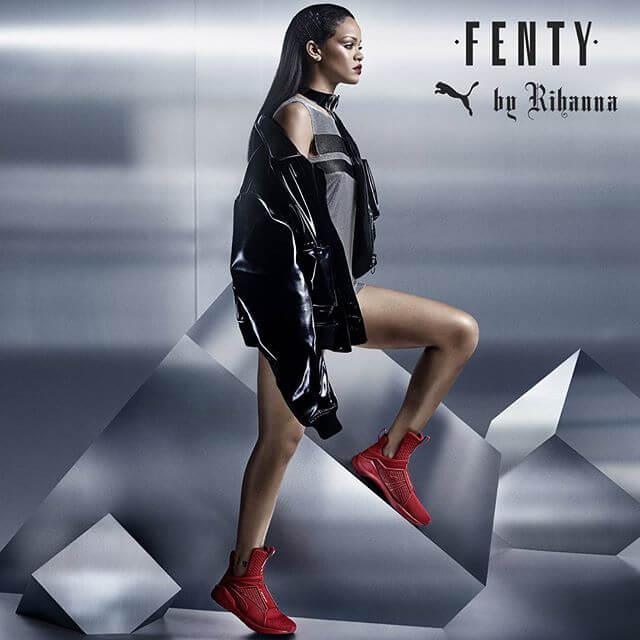 クリエイティブディレクターをつとめるプーマのライン、FENTY PUMA by Rihannaを2016年より展開中のリアーナ。