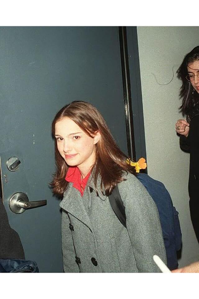 1996年、NYのNBCスタジオを訪れた14歳のときのナタリー・ポートマン。
