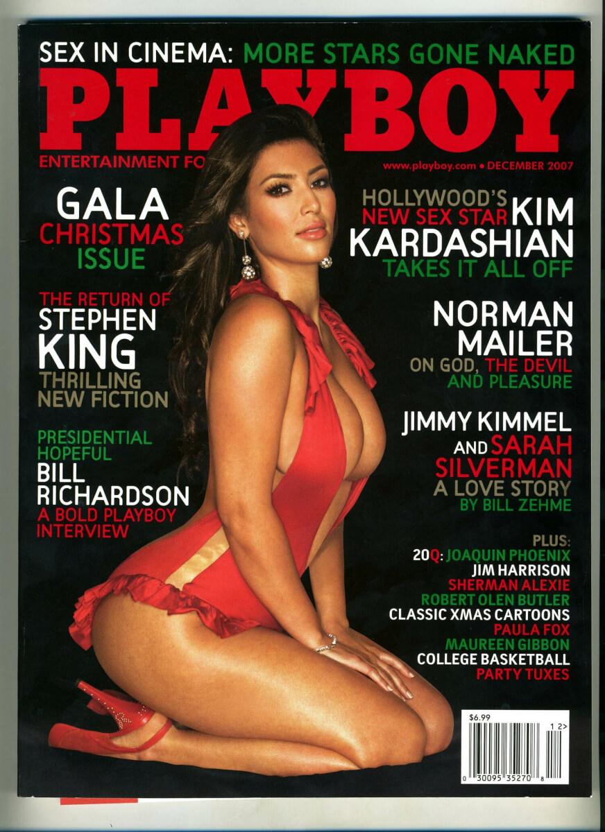 2007年に『プレイボーイ』12月号の表紙を飾ったキム・カーダシアン。