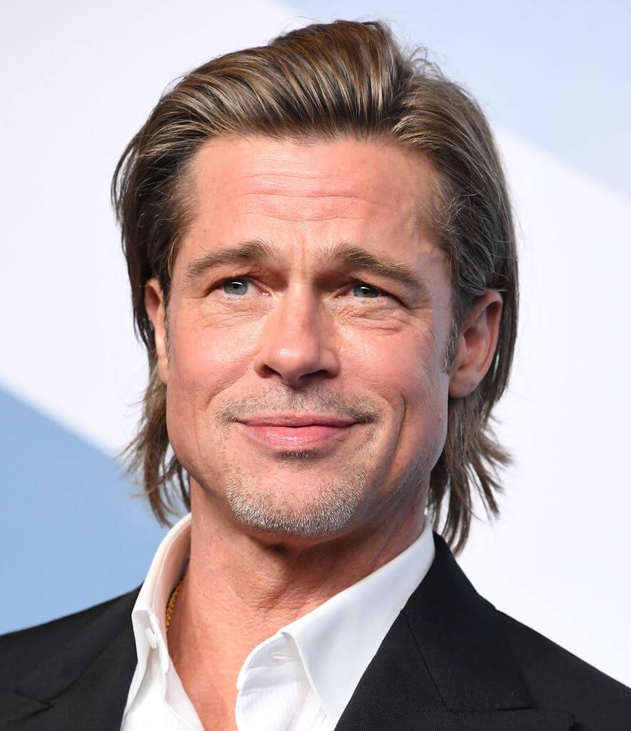 『ワンス・アポン・ア・タイム・イン・ハリウッド』(2019)で第92回アカデミー賞助演男優賞を受賞したブラッド・ピット。