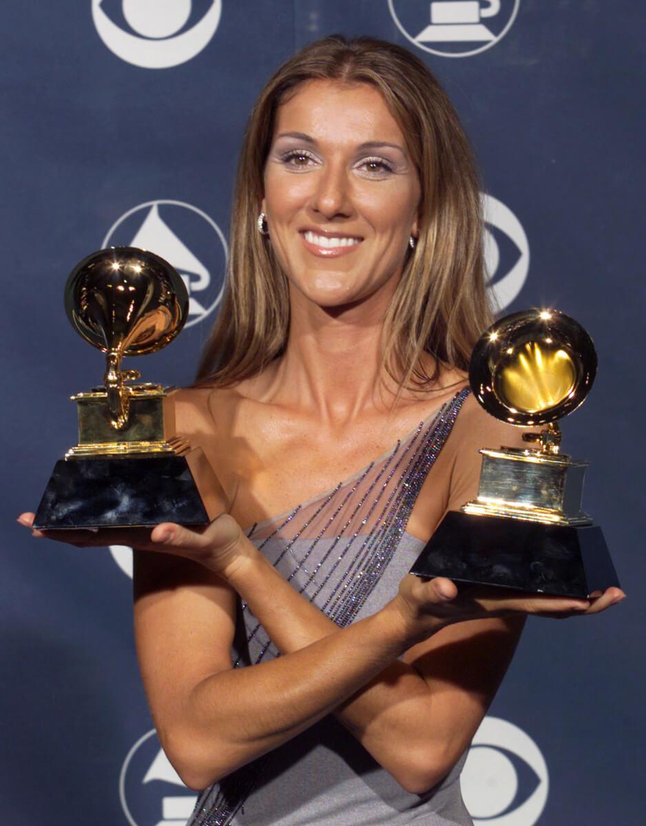 1999年に開催された第41回グラミー賞授賞式では、2冠を達成したセリーヌ・ディオン。