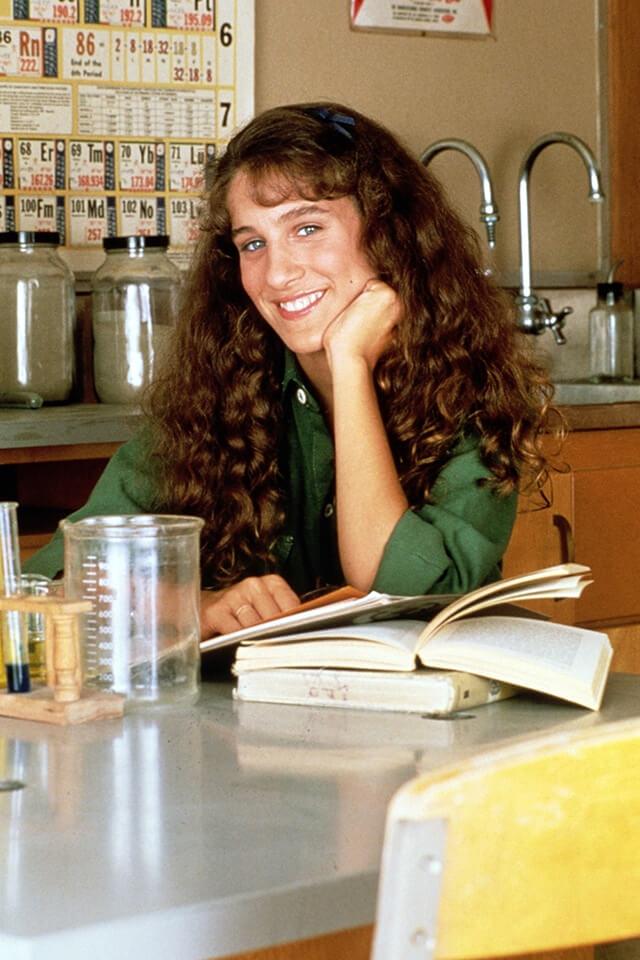 テレビドラマ『Square Pegs(原題)』に出演していた17歳のころのサラ・ジェシカ・パーカー。
