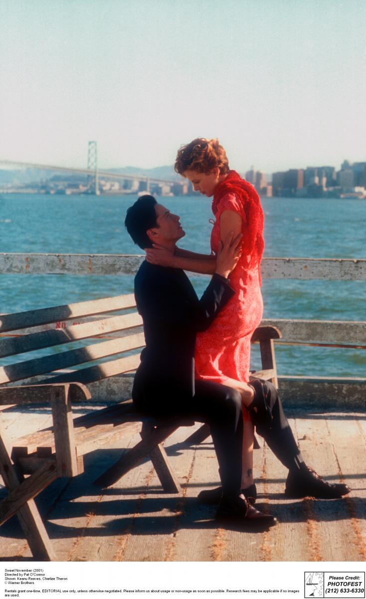映画『スウィート・ノベンバー』(2001)で共演したふたり。