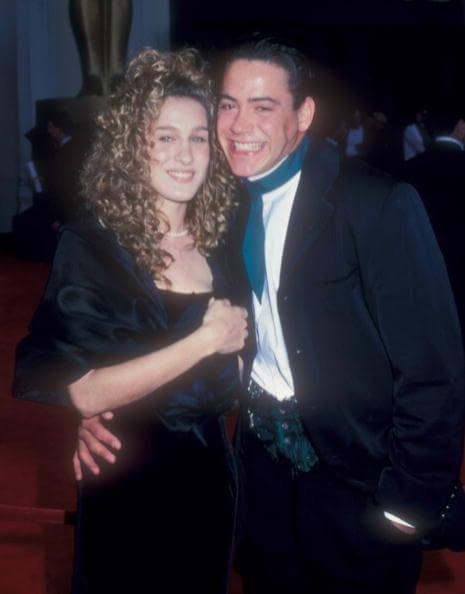 第61回アカデミー賞のレッドカーペットにて。当時交際していたサラ・ジェシカ・パーカーとロバート・ダウニー・ jr.。