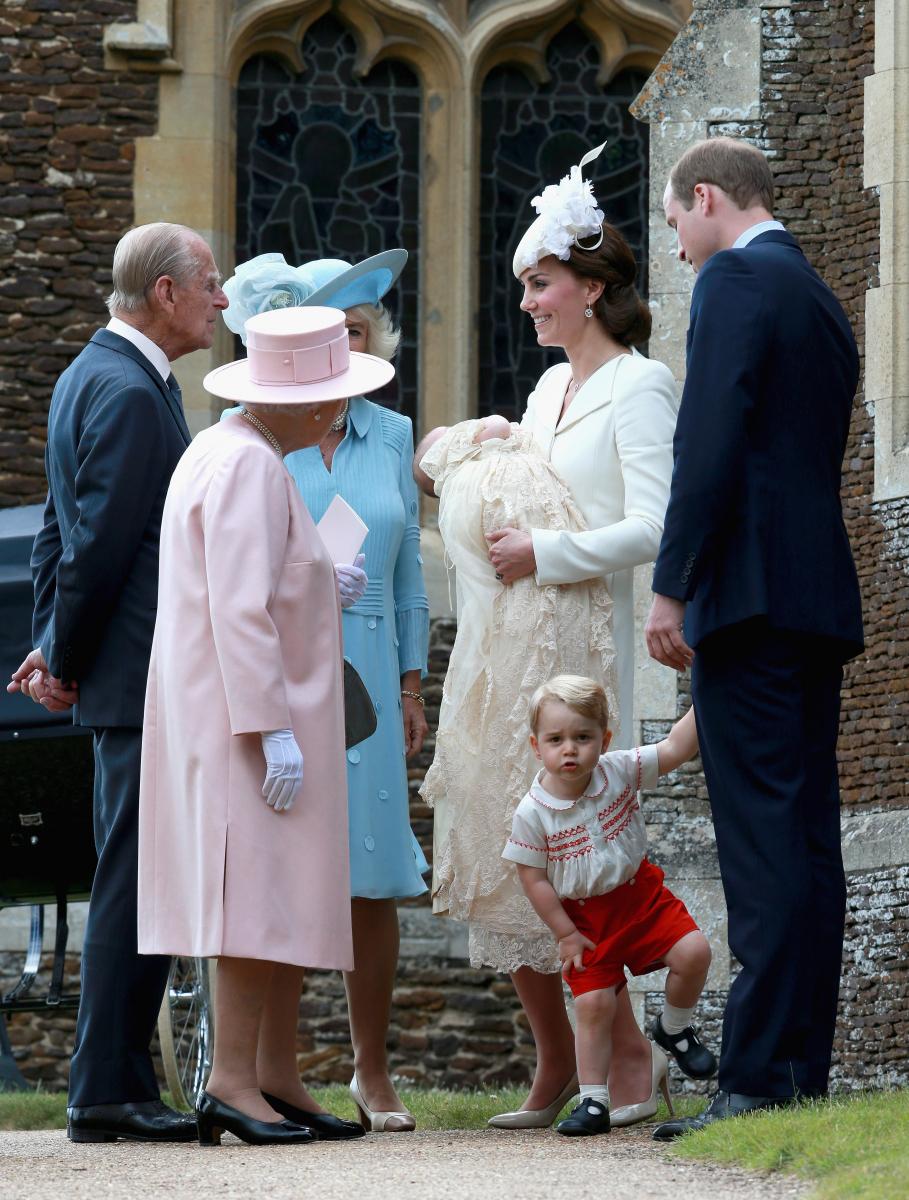 ちょうど3年前の2015年7月に、シャーロット王女の洗礼式が執り行われた。Photo:Getty Images