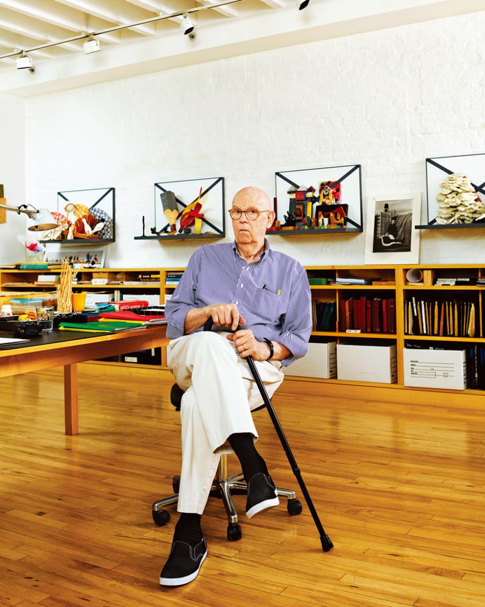 クレス・オルデンバーグ。  ニューヨーク市内ダウンタウンの彼のスタジオで撮影