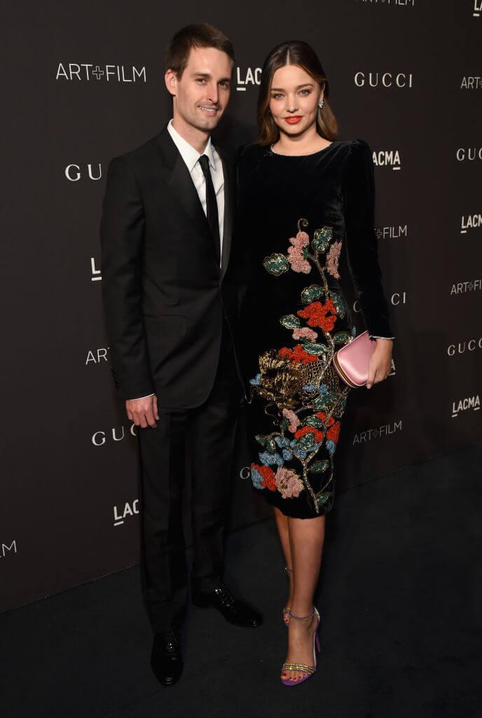 2015年から、現在の夫であるエヴァン・スピーゲルと交際をスタートさせたミランダ・カー。