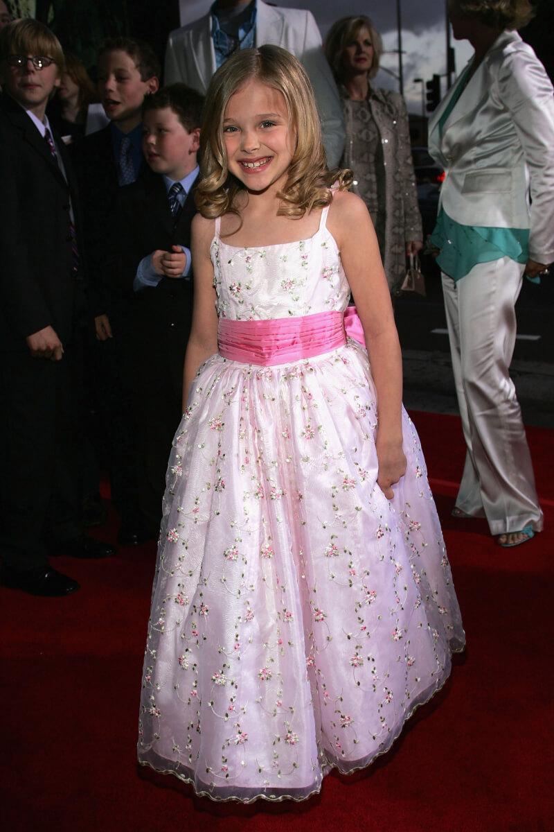 キッズモデルとして活動後、2004年にテレビドラマ『堕ちた弁護士』で子役デビューしたクロエ・グレース・モレッツ。