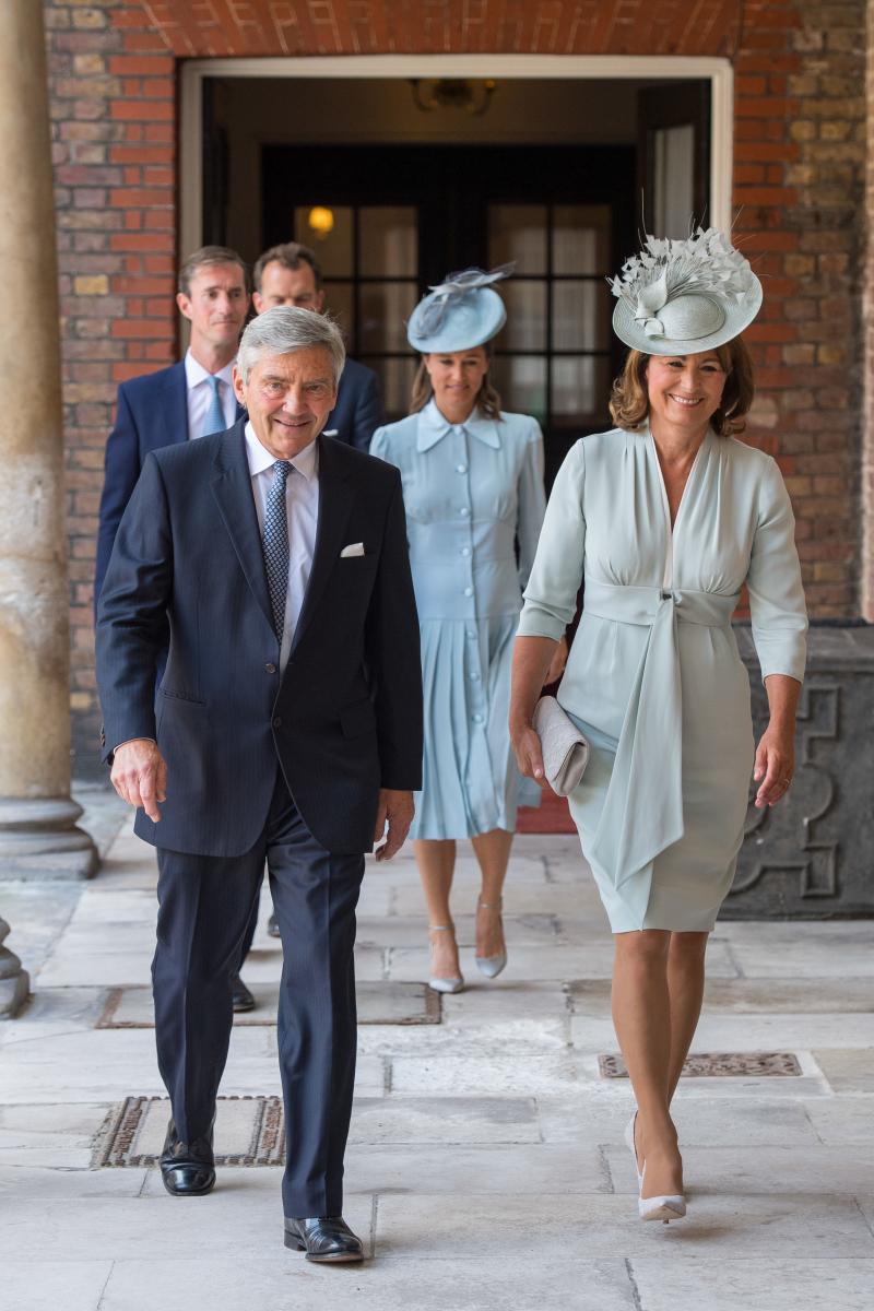 キャサリン妃の両親である、マイケル・ミドルトン(左)とキャロル・ミドルトン(右)。Photo:Getty Images