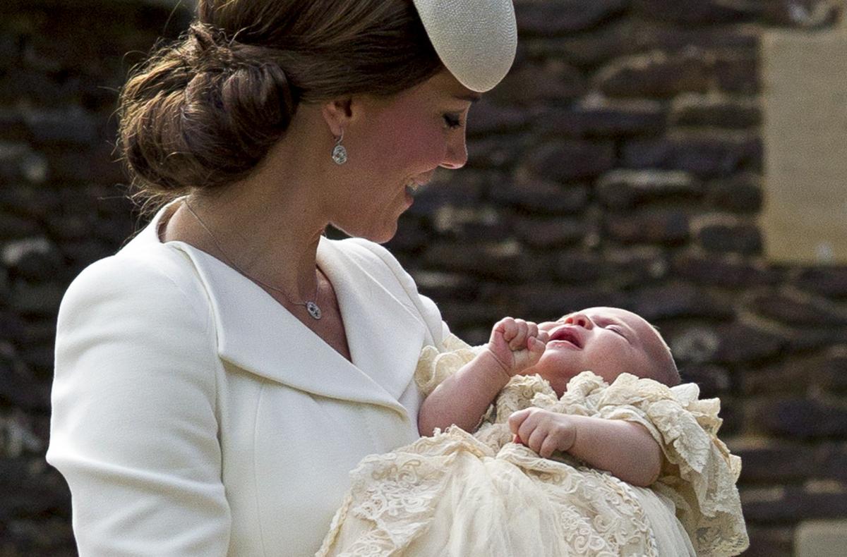 シャーロット王女の洗礼式にて。Photo:Getty Images