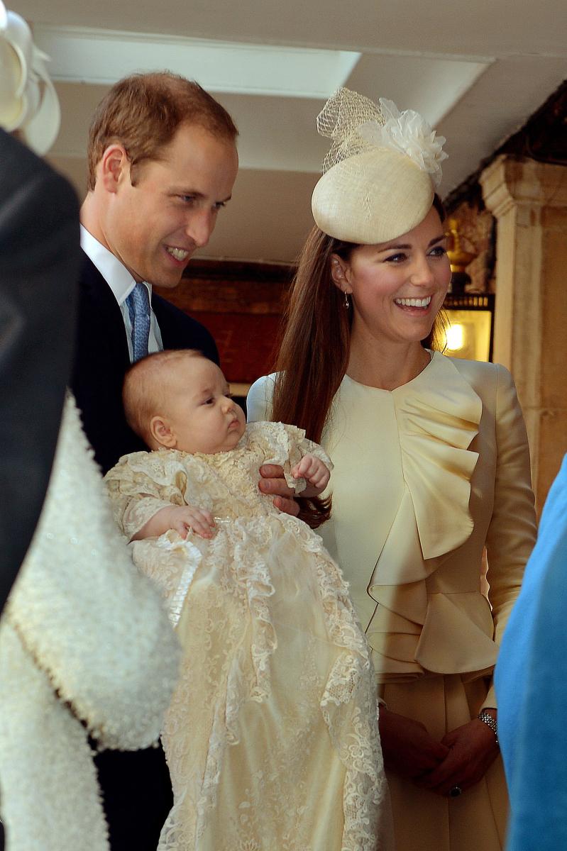 2013年10月に執り行われた、ジョージ王子の洗礼式。Photo:Getty Images