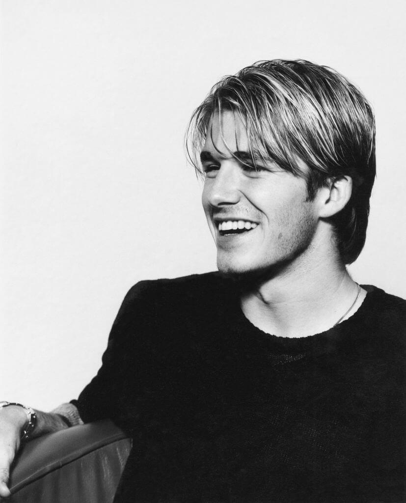 1995年に撮影されたデヴィッド・ベッカム。